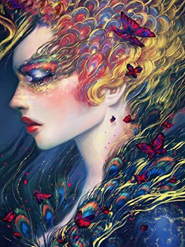 HOICHAN Juego de pintura al óleo con diseño de animales sexys para adultos, colores por números, lienzo para manualidades, regalo, cultura del hogar, 50 cm x 40 cm