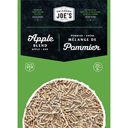 Oklahoma Joe's 2778407DP 100% All-Natural Hardwood Apple Wood Pellets, (20 lb. Bag), Brown