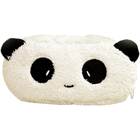 Cosanter - Astuccio Super Morbido Peluche Panda Portacolori Bello e Creativo per Studente – Trousse 20*10*2 cm