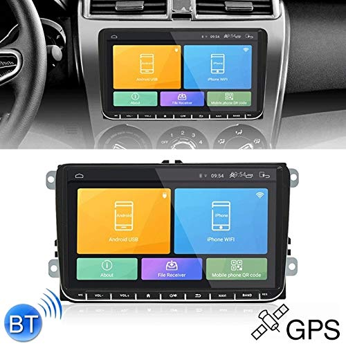 Car-Multimedia-Player HD-Display CKVW92 HD 9 Zoll 2 Din Android 6.0 Auto-MP5 GPS Navigation Multimedia-Player Bluetooth Stereo-Radio for Volkswagen, Unterstützung FM & Spiegel Link Europe Map Version