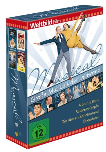 Große Musicals der Leinwand, 4 DVD, A Star is Born - Seidenstrümpfe - Die oberen Zehntausend - Brigadoon