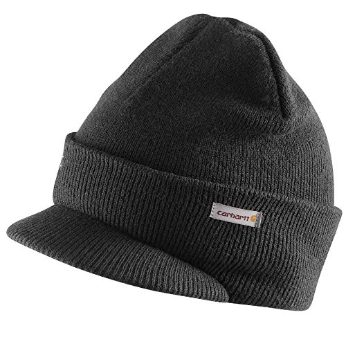 Carhartt Men's Knit Hat with Visor, red/Navy, One Size