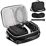 Kootek Carrying Travel Case for Oculus Quest VR Gaming Headset, Shockproof Water Resistance EVA Hard Storage Bag with Adjustable Shoulder Strap for VR Accessories Touch Controllers Cable Adapter