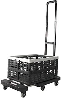 Shopping Trolleys Lightweight Portable Folding Wheel Hand Cart Hand Truck Dolly With Collapsible And Detachable Box (Size ...