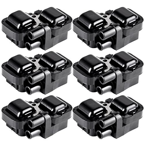 ECCPP Portable Spare Car Ignition Coils Compatible with Mercedes-Benz 1997-2011 Replacement for UF359 C1444 for Travel, Transportation and Repair (Pack of 6)