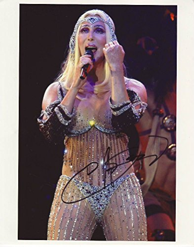 Cher Signiert Autogramme 25cm x 20cm Foto