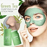 Matcha Purifying Mask Stick - Greentea Poreless Deep Cleanse Stick Mask Clay for All Skin Types, Anti-Acne, Face Moisturizes Oil Control, Blackhead Remover, Improves Texture of Men Women Skin (Green)
