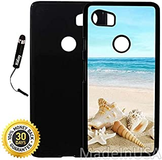 Custom Google Pixel 2XL Case (Ocean Theme Starfish And Seashell On Beach) Plastic Black Cover Ultra Slim | Lightweight | Includes Stylus Pen by Innosub
