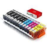 Galada Compatible Ink Cartridge Replacement for Canon PGI-220 PGI220 CLI-221 CLI221 for Canon MP540 MP550 MP560 MP620 MP630 MP640 MP980 MP990 IP3600 IP4600 IP4700 220/221 12pack