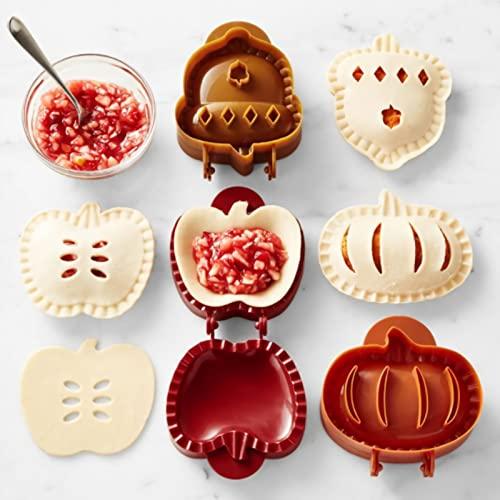 HJTLSKBZ Juego de moldes para Pastel de Mano de otoño, Juego para Hornear Mini Pastel, Herramienta para moldear Masa, moldes para Pastel de Bolsillo de Halloween con Forma de manzanas-1pcs