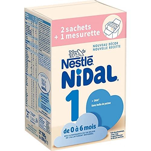 Nestlé Nidal 1 Lait Bébé 1er ge en Poudre De 0 à 6mois, 2 x 350g