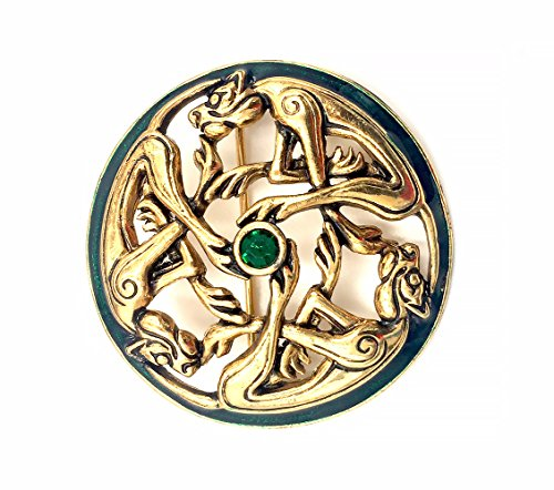 J. C. Walsh & Sons Circular Celtic Gold Plated Brooch Pin