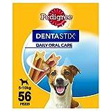 Pedigree DentaStix Hundeleckerli für kleine Hunde / Kausnack mit Huhn- und Rindgeschmack gegen Zahnsteinbildung für gesunde Zähne / 1x56 Stück