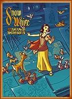 ポスター ジェームス フレームス Mondo Snow White 白雪姫 Cyclops Print 限定305枚 手書きナンバリング入り 額装品 ウッドベーシックフレーム(オレンジ)