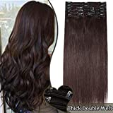 Clip in Hair Extension Human Hair - Double Weft Real Remy Hair Full