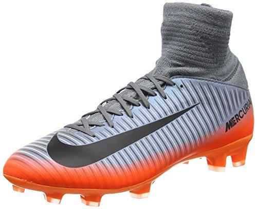 Nike Mercurial Superfly V CR7 FG Fußballschuhe, Grau (Ool Grey/MTLC Hematite-Wolf Grey 001), 37.5 EU