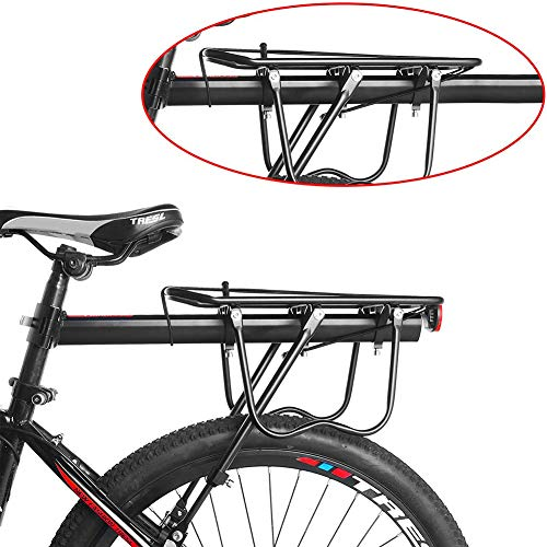 CXD Porter Mountain, Adjustable Aluminum Alloy MTB Porter Bike Rack Bike Rack Maximum Load 75 Kg,Black
