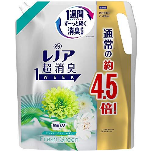 レノア 超消臭1WEEK 柔軟剤 フレッシュグリーン 詰め替え 約4.5倍