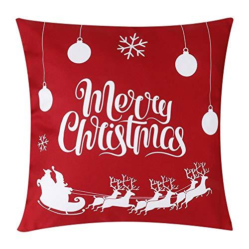 Capa de almofada de 17,7 x 17,7 na fronha, capa de almofada de estilo natalino Fronha de almofada de natal, para sofá da sala de estar(3)