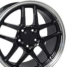 OE Wheels 17 Inch Fits Chevy Camaro Corvette Pontiac Firebird C5 Z06 Style CV04 Black with Machined Lip 17x9.5 Rim Hollander 5146
