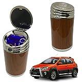 Oshotto High Temperature Portable Wooden Design Car Ashtray for Toyota Etios Cross