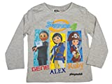 Playmobil Official Boys T-Shirt Long Sleeve 3Years Grey