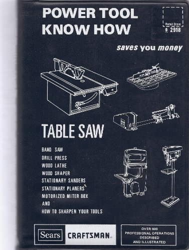 Power Tool Know How: Table Saw; Band Saw, Drill Press, Wood Lathe, Wood Shaper, Stationary Sanders, Stationary Planers, Motorized Miter Box and How to Sharpen Your Tools; Saves You Money