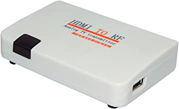 E-SDS HDMI to RF Coaxial Converter Box with Remote Control,HDMI to Coaxial Analog Signal Support Zoom Function
