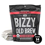 Bizzy Organic Cold Brew Coffee   Smooth & Sweet Blend   Coarse Ground Coffee   Micro Sifted   Specialty Grade   100% Arabica   Brew Bags   4 Count   Makes 14 Cups