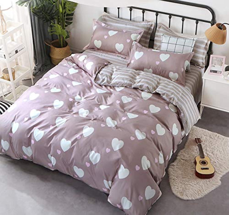 Ropa De Cama Dormitorio En Forma De Corazón Creativo En blancoo Dormitorio 2 Funda De Almohada 1 Edrojoón Cover200X230Cmx1,51X76Cmx2