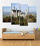 Blaesusky Leinwanddrucke Modern Home Wand Dekor 4 Stück