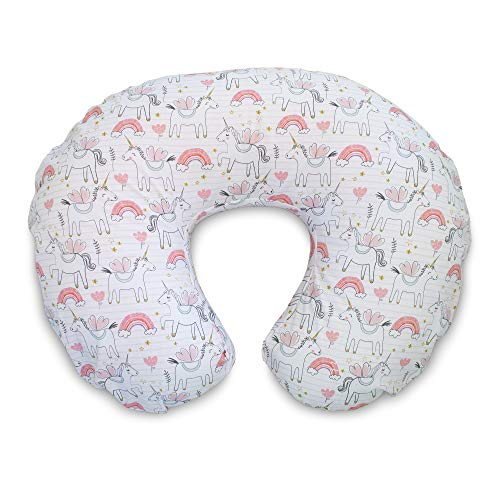 Boppy Original Nursing Pillow Cover, Pink Unicorns, Cotton Blend Fabric with Allover Fashion, Fits All Boppy Nursing Pillows and Positioners