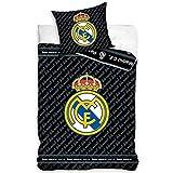 Real Madrid F.C. BK Bettwäsche-Set für Einzelbett, offizielles Lizenzprodukt