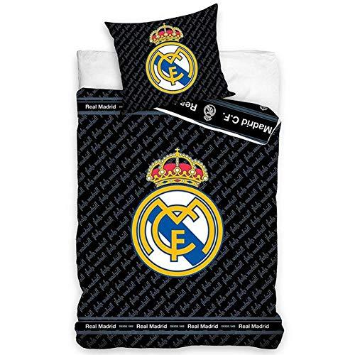Real Madrid F.C. Juego de Funda de edredón para Cama Indivi