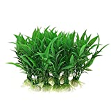PULABOFish - Plantas decorativas para acuario, paquete de 5 unidades, color verde, práctico y práctico