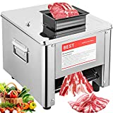 Marada Meat Cutter Machine Commercial Electric Meat Grinder Machine Slicing Shredding Cutting Machine for Pork, Lamb, Beef and Other Meats (3MM Balde)