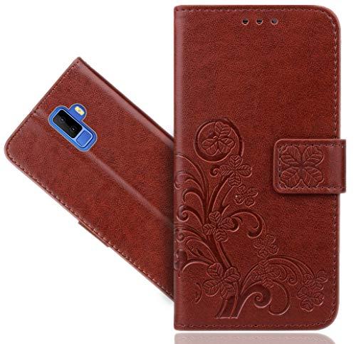 Leagoo M9 Handy Tasche, FoneExpert Wallet Hülle Cover Flower Hüllen Etui Hülle Ledertasche Lederhülle Schutzhülle Für Leagoo M9