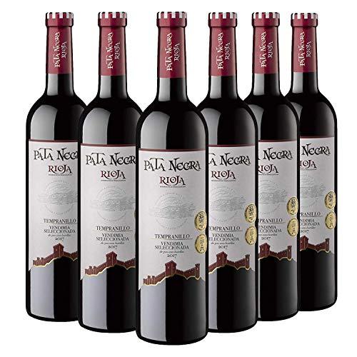 Pata Negra Vendimia Seleccionada - Vino Tinto D.O Rioja, Pack de 6 Botellas x 750 ml...