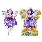 Toi-Toys Fairy Blumen-Fee lila Puppe 30cm Fantasie Spielzeug für Mädchen Fairy Queen