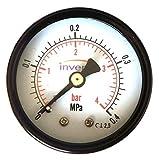 """Plomería INDUSTRIAL 50mm Hidráulico Manómetro Manómetro 4 bar 1/4"""" TRASERO invena"""