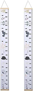 simhoa 2pcs Height Ruler Growth Chart Cartoon Zoo Animals Design Bedroom Decor DIY