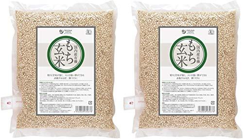 無添加 国内産 有機 もち玄米 1kg×2個 ★ 宅配便 ★ 有機JAS認定商品・粘りと甘みがあり、コシの強いお餅ができます。
