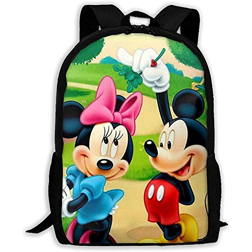 wobuzhidaoshamingzi Mic_Key und Minnie Casual Rucksack Reißverschluss Schultasche Travel Daypack Backpack-35X-G85