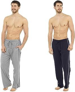 2 Pack Mens/Gentlemens Nightwear Plain Pyjama Bottom Lounge Pants, XXL Large