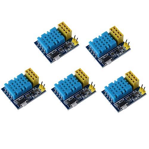 DollaTek 5Pcs ESP8266 DHT11 ESP-01 / 01S Temperatur- und Feuchtigkeits-WLAN-Transceiver-Modul