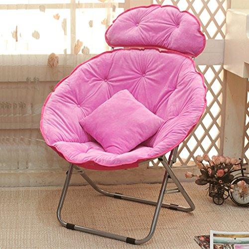 Klappbarer Lounge Sessel im Juli Lazy Stuhl Radar Stuhl Midday Stuhl Falten Liegesessel Rückenlehne Stuhl Sun Stuhl Moon Stuhl Nap Das Sofa (Farbe : Pink)