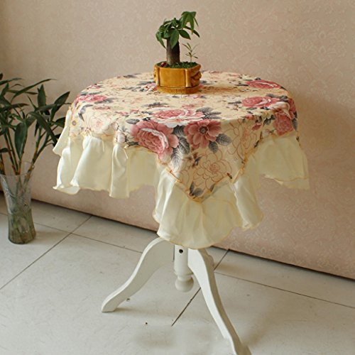 ZWL Nappe Coton Dentelle Table Tissu Nappe Table Basse Tissu Art Table Tissu Rond Table Tissu Place , Ajoutez de la vitalité à la cuisine ( Couleur : C , taille : 150*150cm )