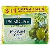 Palmolive Naturals Lot de 4 savons, enrichis en extrait d'olive–360g