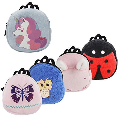 COAFIT Puppenrucksack 6 Stück, Puppenzubehör Mini Puppentasche Canvas Reißverschluss Spielzeug für Kinder Geschenke 18 Zoll Puppen