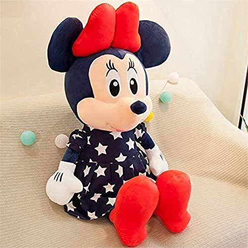 NC88 Mickey Mouse Felpa Minnie Dibujos Animados Lindo muñeco de Peluche Juguetes de Peluche Animales niños Regalos de cumpleaños Azul Mickey 35cm
